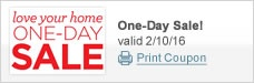 Love Your Home One-Day Sale